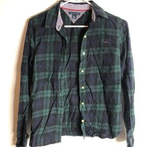 Tommy Hilfiger button up plaid shirt